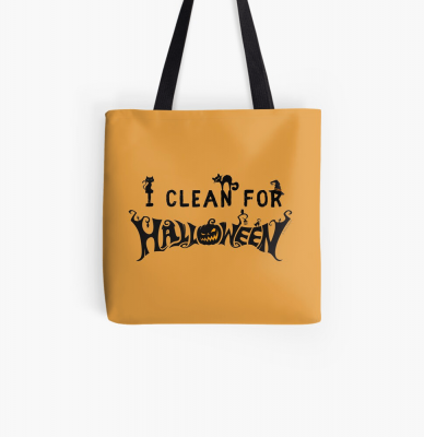 Clean for Halloween, Savvy Cleaner, Funny Cleaning Gifts, Cleaning Tote Bag