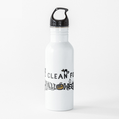 Clean for Halloween, Savvy Cleaner, Funny Cleaning Gifts, Cleaning Water Bottle