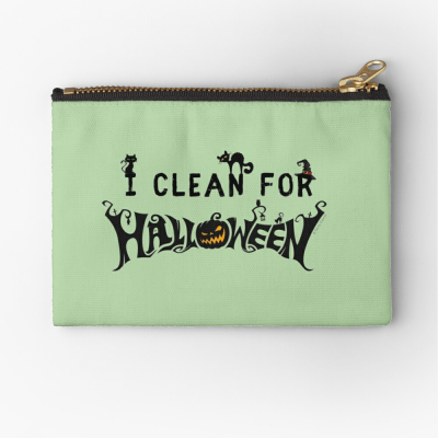 Clean for Halloween, Savvy Cleaner, Funny Cleaning Gifts, Cleaning Zipper Bag