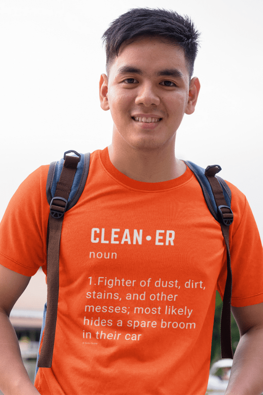 Cleaner Noun Savvy Cleaner Funny Cleaning Shirts Comfort T-Shirt