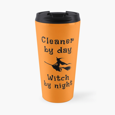 Cleaner by Day Savvy Cleaner Funny Cleaning Gifts Travel Mug