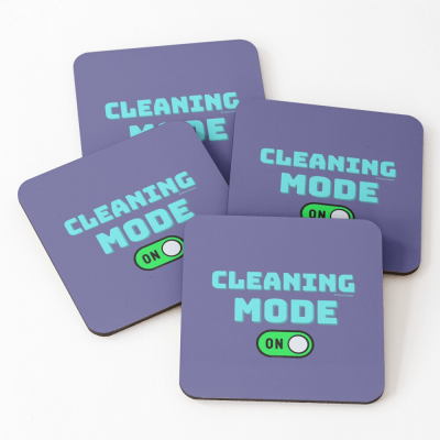 Cleaning Mode, Savvy Cleaner Funny Cleaning Gifts, Cleaning Coasters