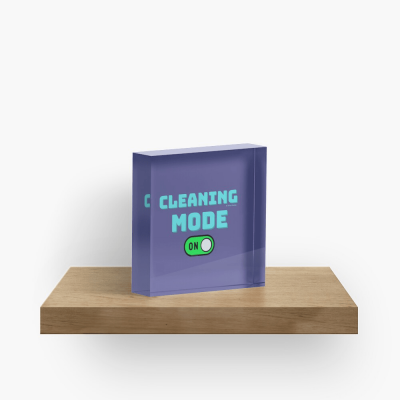 Cleaning Mode, Savvy Cleaner Funny Cleaning Gifts, Cleaning Collectible Cube