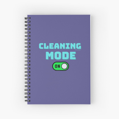 Cleaning Mode, Savvy Cleaner Funny Cleaning Gifts, Cleaning Spiral Notepad