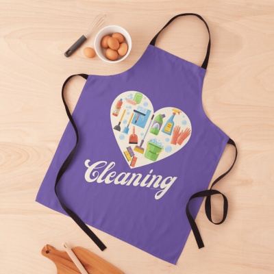Heart Cleaning, Savvy Cleaner Funny Cleaning Gifts, Cleaning Apron