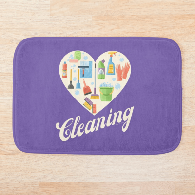 Heart Cleaning, Savvy Cleaner Funny Cleaning Gifts, Cleaning Bathmat