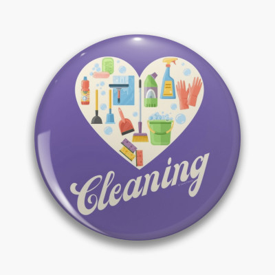Heart Cleaning, Savvy Cleaner Funny Cleaning Gifts, Cleaning Button
