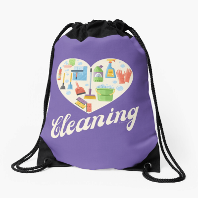 Heart Cleaning, Savvy Cleaner Funny Cleaning Gifts, Cleaning Drawstring