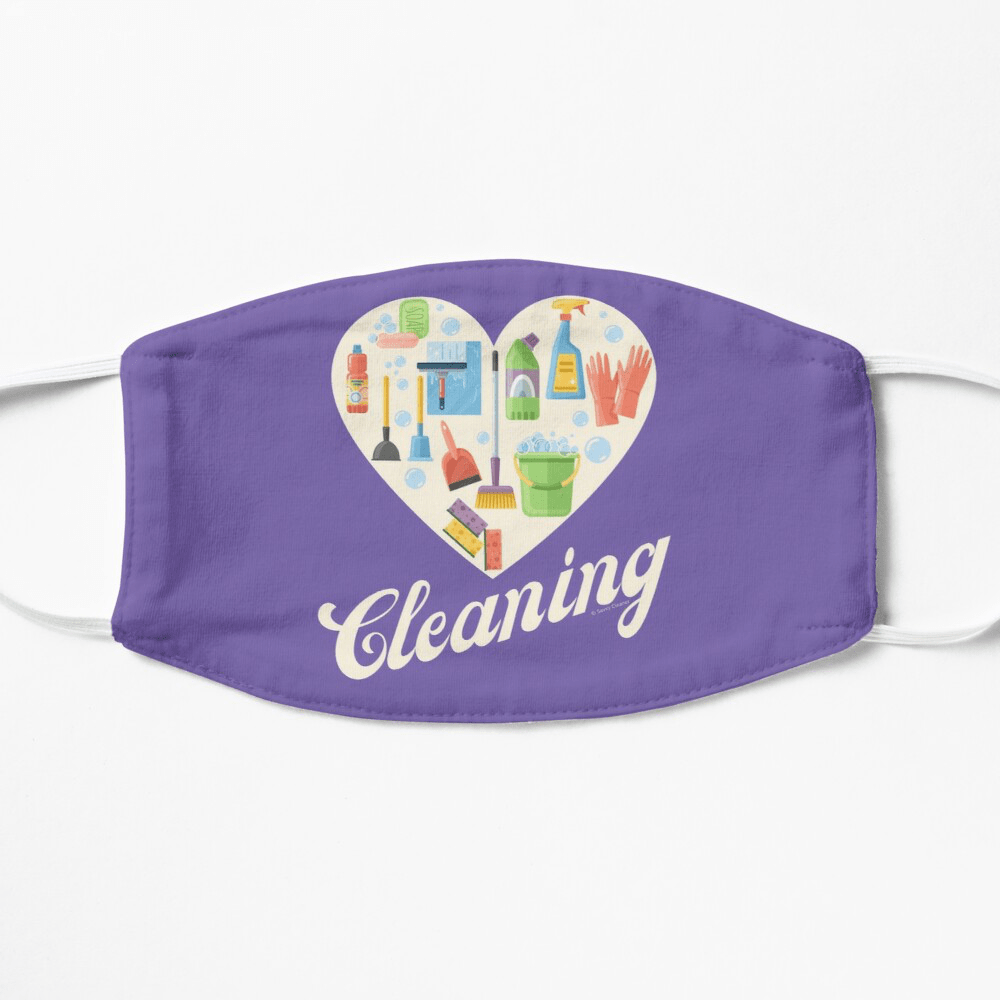 Heart Cleaning, Savvy Cleaner Funny Cleaning Gifts, Cleaning Facemask