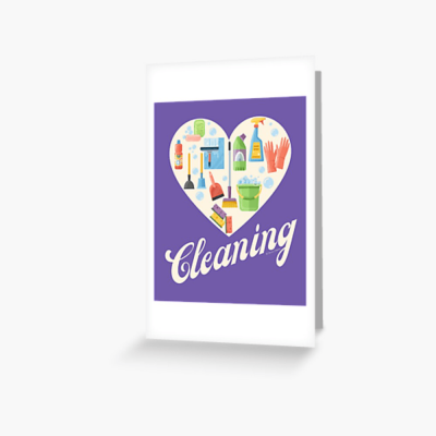 Heart Cleaning, Savvy Cleaner Funny Cleaning Gifts, Cleaning Greeting Card