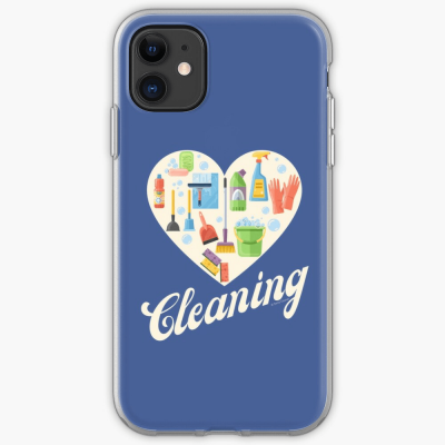 Heart Cleaning, Savvy Cleaner Funny Cleaning Gifts, Cleaning Iphone Case