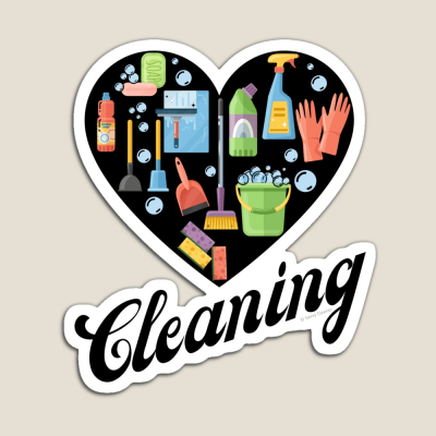 Heart Cleaning, Savvy Cleaner Funny Cleaning Gifts, Cleaning Magnet