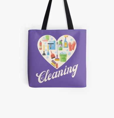 Heart Cleaning, Savvy Cleaner Funny Cleaning Gifts, Cleaning Tote Bag