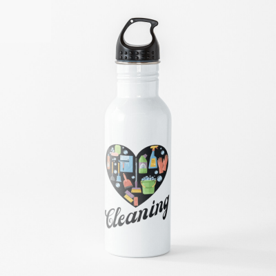 Heart Cleaning, Savvy Cleaner Funny Cleaning Gifts, Cleaning Water Bottle