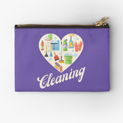 Heart Cleaning, Savvy Cleaner Funny Cleaning Gifts, Cleaning Zipper Bag