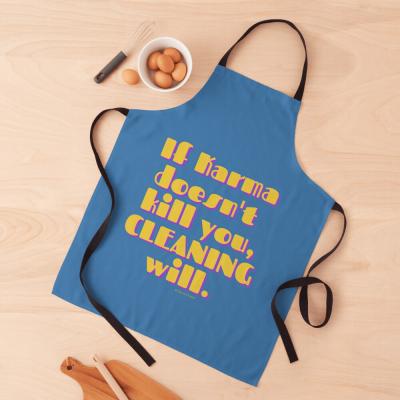 If Karma, Savvy Cleaner Funny Cleaning Gifts, Cleaning Apron