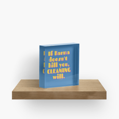 If Karma, Savvy Cleaner Funny Cleaning Gifts, Cleaning Collectible Cube