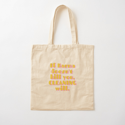 If Karma, Savvy Cleaner Funny Cleaning Gifts, Cleaning Cotton Tote Bag