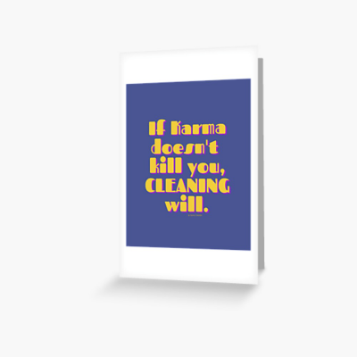 If Karma, Savvy Cleaner Funny Cleaning Gifts, Cleaning Greeting Card