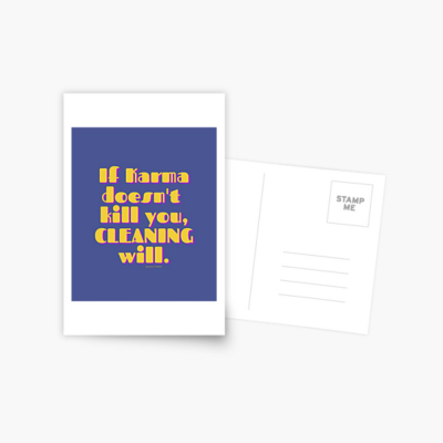 If Karma, Savvy Cleaner Funny Cleaning Gifts, Cleaning Postcard