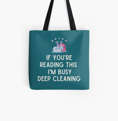 Im Busy Deep Cleaning, Savvy Cleaner Funny Cleaning Gifts, Cleaning Tote Bag