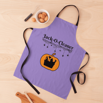 Jack-O-Cleaner, Savvy Cleaner Funny Cleaning Gifts, Cleaning Apron