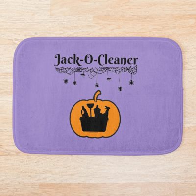 Jack-O-Cleaner, Savvy Cleaner Funny Cleaning Gifts, Cleaning Bathmat