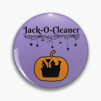 Jack-O-Cleaner, Savvy Cleaner Funny Cleaning Gifts, Cleaning Button