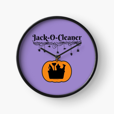 Jack-O-Cleaner, Savvy Cleaner Funny Cleaning Gifts, Cleaning Clock