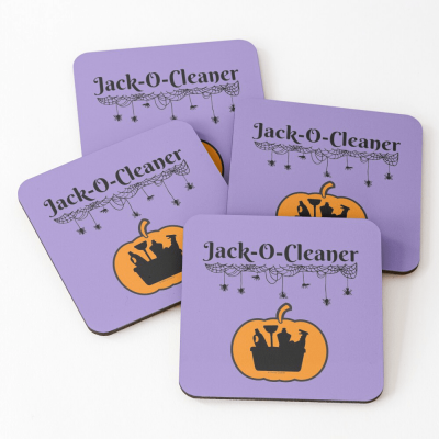 Jack-O-Cleaner, Savvy Cleaner Funny Cleaning Gifts, Cleaning Coasters