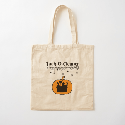 Jack-O-Cleaner, Savvy Cleaner Funny Cleaning Gifts, Cleaning Cotton Tote Bag