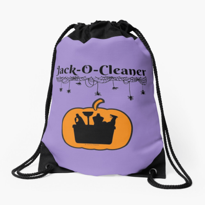 Jack-O-Cleaner, Savvy Cleaner Funny Cleaning Gifts, Cleaning Drawstring Bag