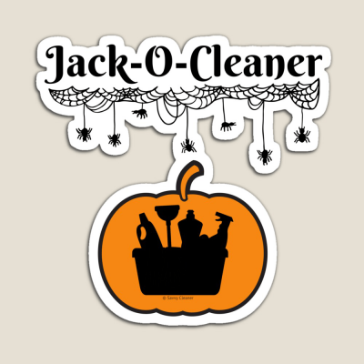Jack-O-Cleaner, Savvy Cleaner Funny Cleaning Gifts, Cleaning Magnet