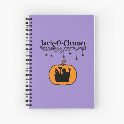 Jack-O-Cleaner, Savvy Cleaner Funny Cleaning Gifts, Cleaning Spiral Notepad