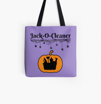 Jack-O-Cleaner, Savvy Cleaner Funny Cleaning Gifts, Cleaning Tote Bag