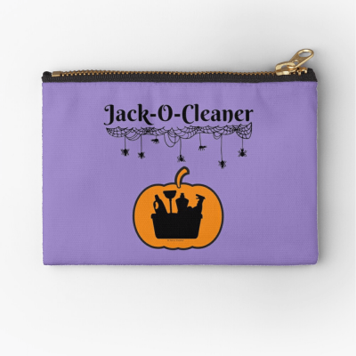 Jack-O-Cleaner, Savvy Cleaner Funny Cleaning Gifts, Cleaning Zipper Bag