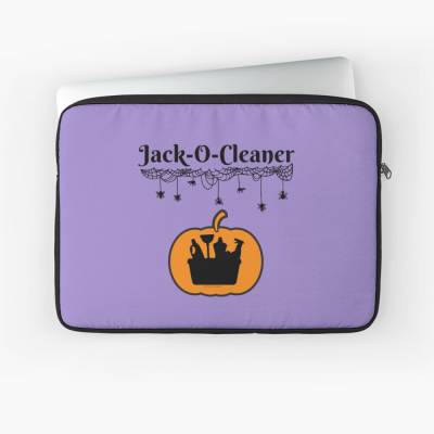 Jack-O-Cleaner, Savvy Cleaner Funny Cleaning Gifts, Cleaning laptop Sleeve