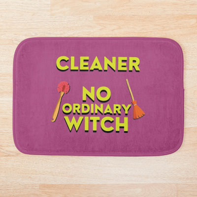 No Ordinary Witch, Savvy Cleaner Funny Cleaning Gifts, Cleaning Bathmat