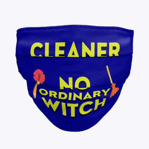 No Ordinary Witch, Savvy Cleaner Funny Cleaning Gifts, Cleaning Cloth Face Mask