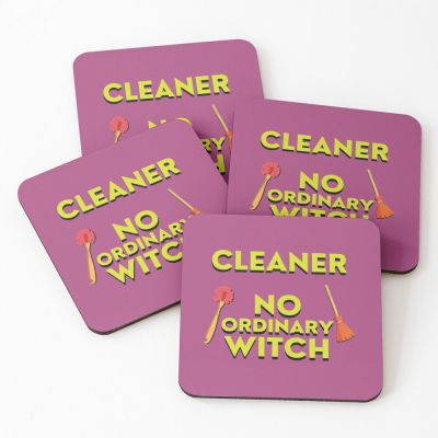 No Ordinary Witch, Savvy Cleaner Funny Cleaning Gifts, Cleaning Coasters
