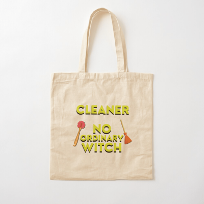 No Ordinary Witch, Savvy Cleaner Funny Cleaning Gifts, Cleaning Cotton Tote Bag