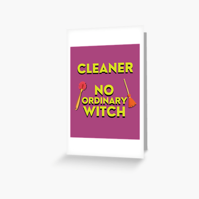 No Ordinary Witch, Savvy Cleaner Funny Cleaning Gifts, Cleaning Greeting Card