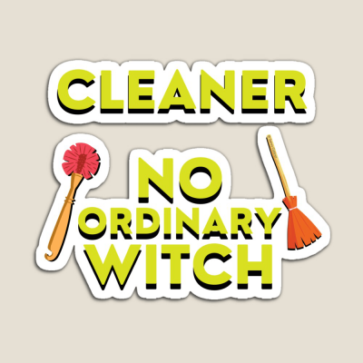 No Ordinary Witch, Savvy Cleaner Funny Cleaning Gifts, Cleaning Magnet