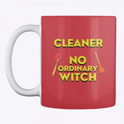 No Ordinary Witch, Savvy Cleaner Funny Cleaning Gifts, Cleaning Mug