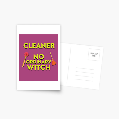 No Ordinary Witch, Savvy Cleaner Funny Cleaning Gifts, Cleaning Postcard