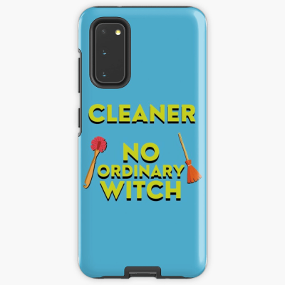 No Ordinary Witch, Savvy Cleaner Funny Cleaning Gifts, Cleaning Samsung Galaxy Phone Case