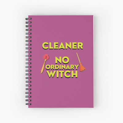 No Ordinary Witch, Savvy Cleaner Funny Cleaning Gifts, Cleaning Spiral Notepad