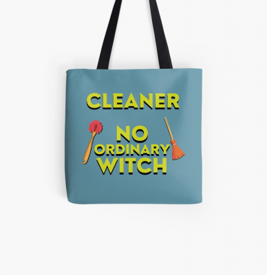 No Ordinary Witch, Savvy Cleaner Funny Cleaning Gifts, Cleaning Tote Bag