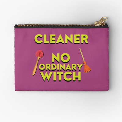 No Ordinary Witch, Savvy Cleaner Funny Cleaning Gifts, Cleaning Zipper Bag