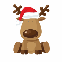 Reindeer With Hat Snippet